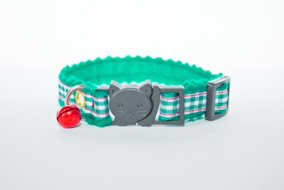 Tartan Green Cat Collar