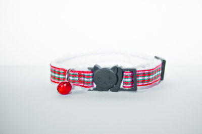 chequered with red felt