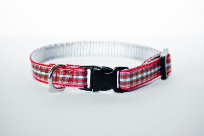 Red Tartan XS Puppy Collar