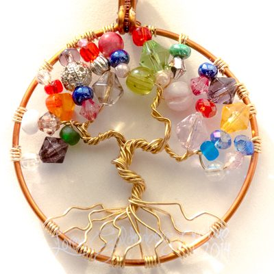 Peaceful Tree of Life Pendant Close Up