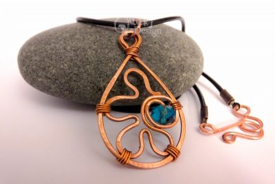 Infinite Being Hammered Copper Pendant