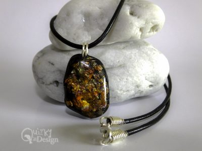 Faux Dichroic Small Nugget Pendant & Necklace