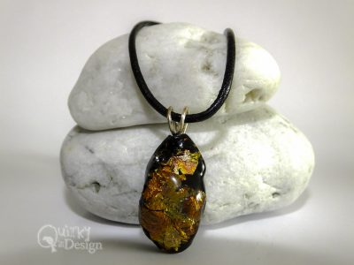 Faux Dichroic Small Nugget (2) Pendant & Necklace