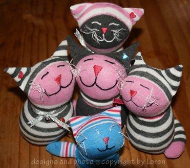 Cute Kittehs Sock Cats