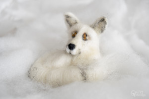 Needle Felted Arctic Fox