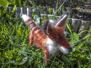 Needle Felted Fox called Woxy