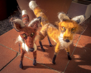 Needle Felted Foxes