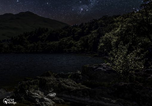 Loch Lomond - Enhanced Changed to Night Sky