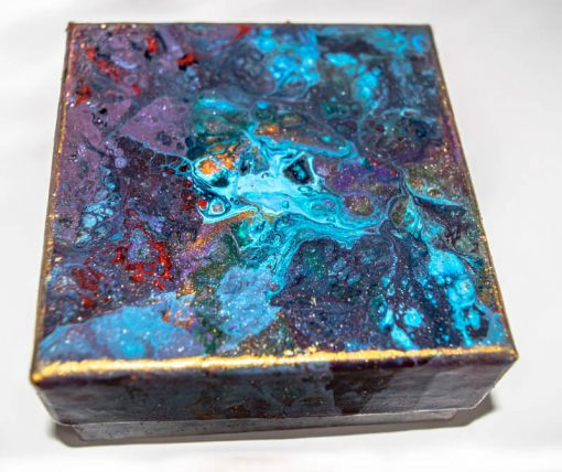Hand decorated Keepsake - Gift box Top