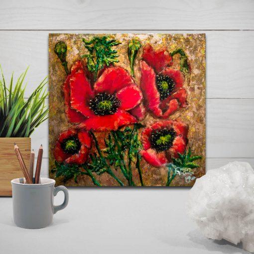 copper poppies by artist Loren Goldenberg-Kosbab